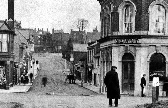 Railway Hotel and Station Road, c1900