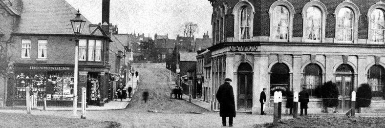 Old photo of street scene, Harpenden