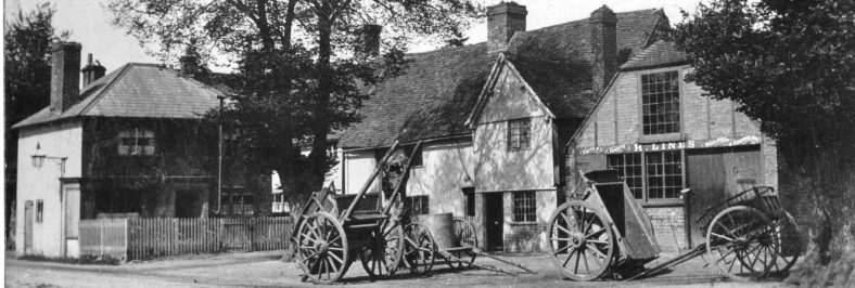 High Street - Lines Forge and cottages alongside - 1890s