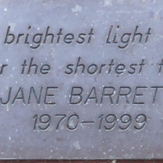 Jane Barrett, Westfield Cemetery
