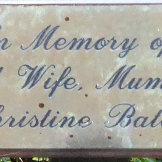 Christine Bates, Westfield Cemetery