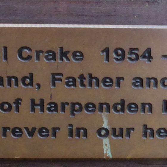 Paul Crake, Rothamsted Park