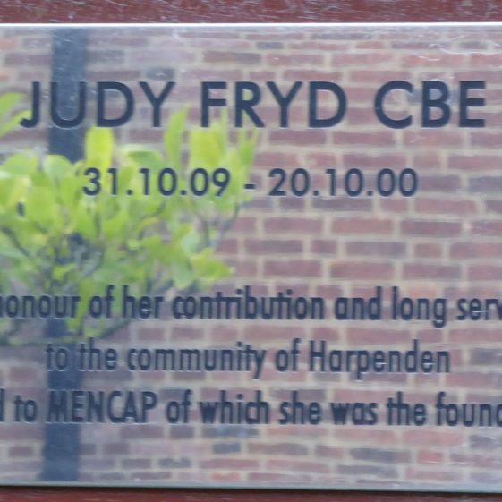Judy Fryd, CBE.  Harpenden Hall garden.  Founder of Mencap