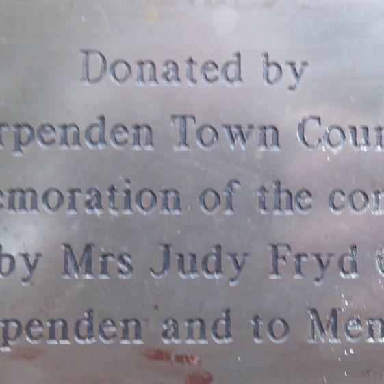 Judy Fryd CBE.  Fountain concourse, High St.  Founder of MENCAP