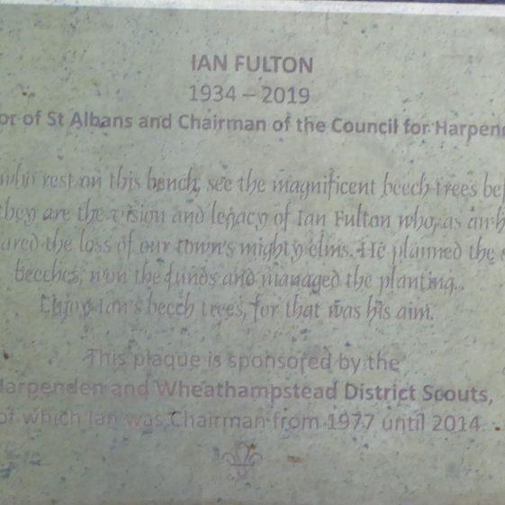 Cllr Ian Fulton, Park Hall.  Town councillor and Mayor