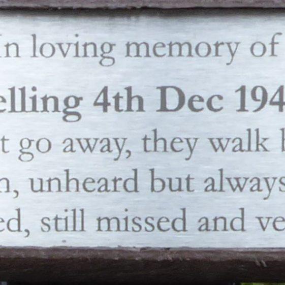 Alice Gelling, Westfield Cemetery