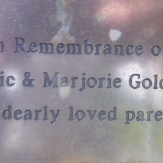 Eric amd Marjorie Golds, Fountain concourse, High St