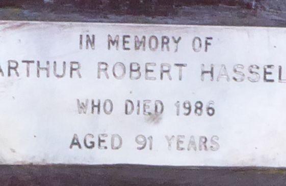 Arthur Robert Hassell, Westfield Cemetery