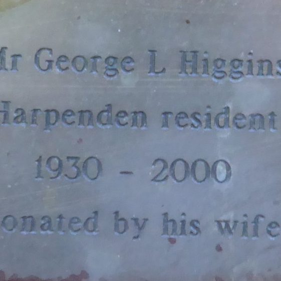 George Higgins, Fountain Concourse, High St