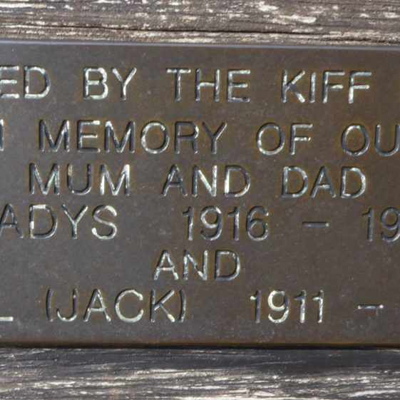 Gladys and Jack Kiff, Souhdown Road by Co-op store