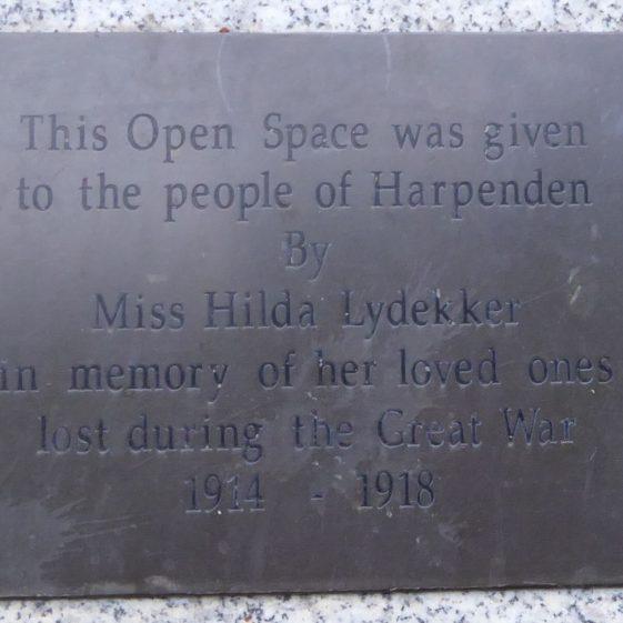 Hilda Lydekker, Lydekker Park