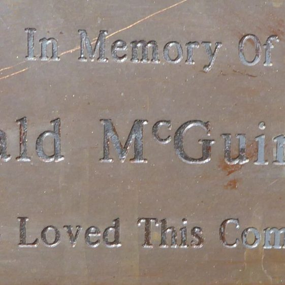 Gerald McGuinness, Common by St John's Church