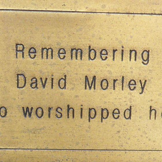 David Morley, St John's Church