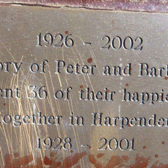 Peter and Barbara New, Fountain Concourse, High St