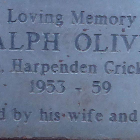 Ralph Oliver, Cricket Ground on Common