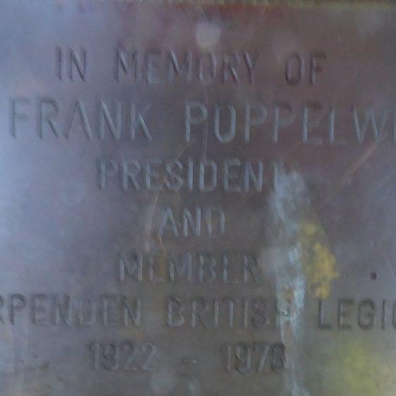 Frank Popplewell, Common by British Legion