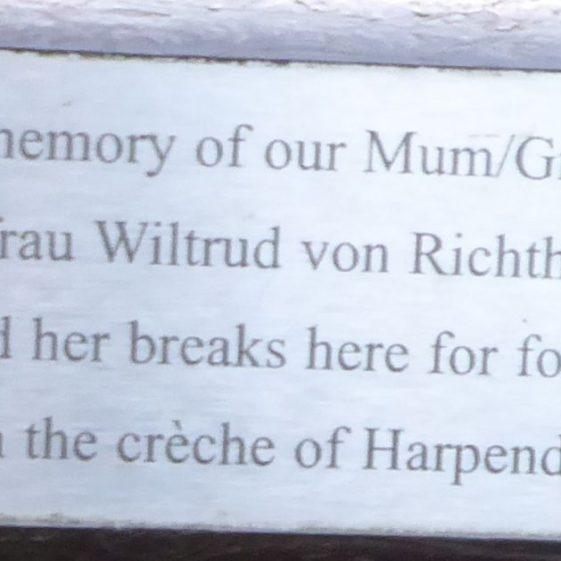 Freifrau (Baroness) Witrud von Richthofen, Jeakings Garden ,Rothamsted Park