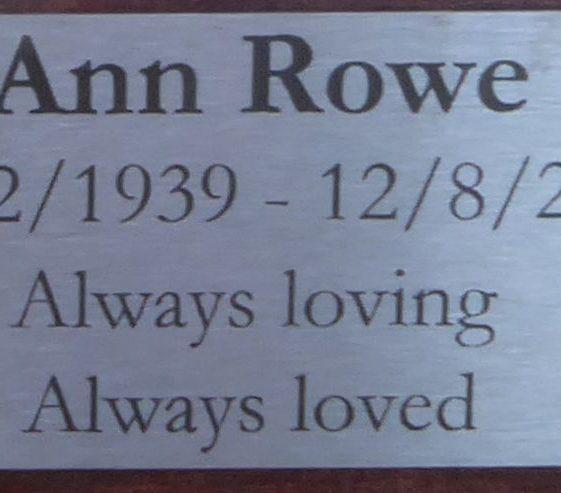 Ann Rowe, Rothamsted Park