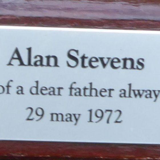 Alan Stevens, Westfield Cemetery
