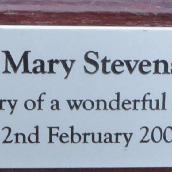 Mary Stevens, Westfield Cemetery ,