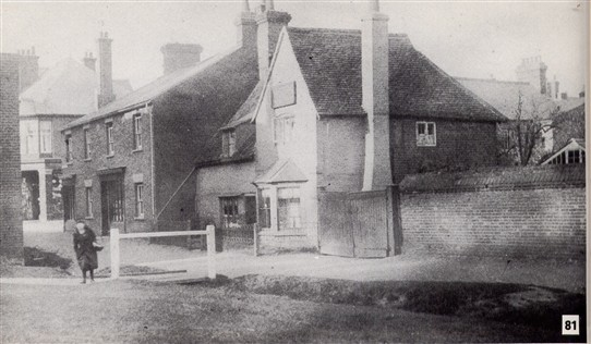 55. The stream continued past the Harpenden Arms Hotel | Scan from 'Bygone Harpenden'