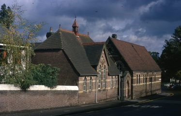 St Nicholas School, from Rothamsted Avenue, 1971 | LHS slide collection