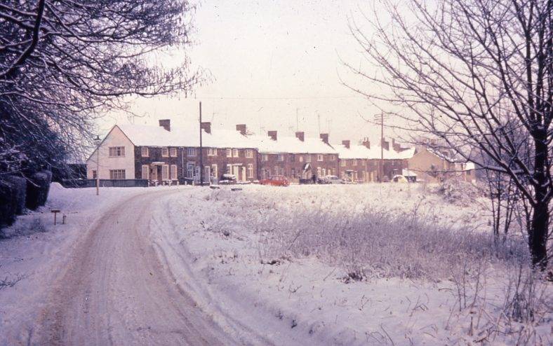 Pimlico cottages, West Common, in the snow, 1963 | LHS collection - B. Norman