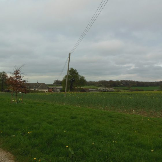 9. The farm sheltered in the valley, running eastwards. | R Ross, April 2014
