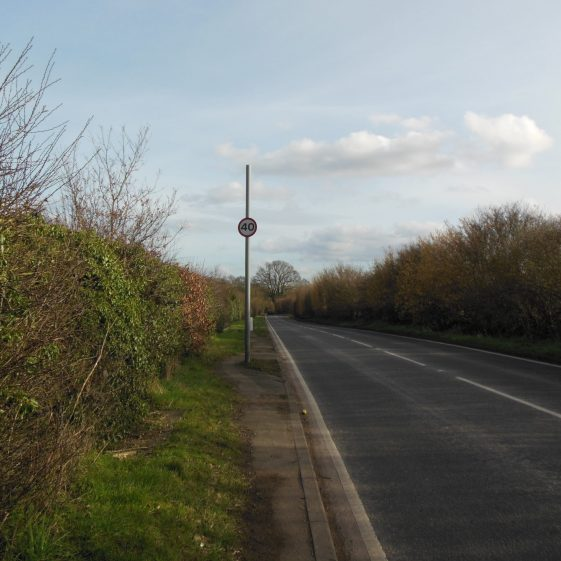 28. Newlands Road, alongside the boundary of Stockwood Park, near Farley Green | Rosemary Ross, March 2014