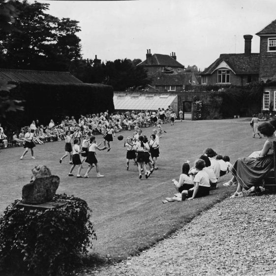 20. The lawns become playing fields for the Convent school. Sports Day 1954   LHS archives