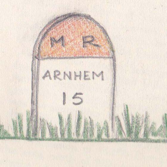 Cornelia's sketch of a Milepost near Arnhem | Vol.1 - page 33