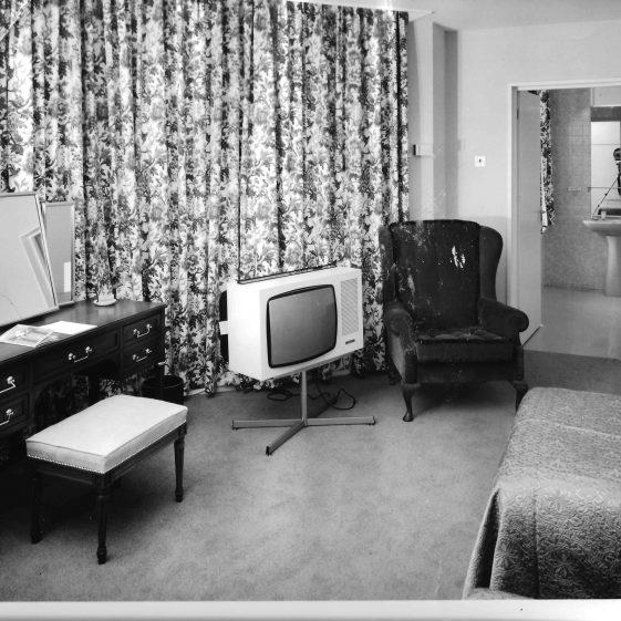 25.  Bedroom - 1970   Welcombe album - LHS archives