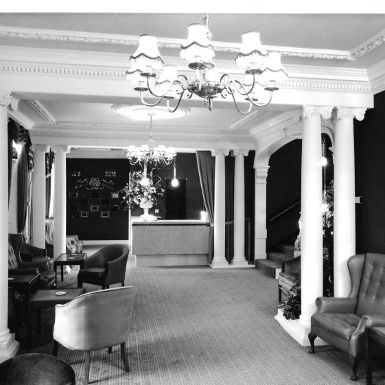 24. Reception lobby, 1970   Welcombe album - LHS archives
