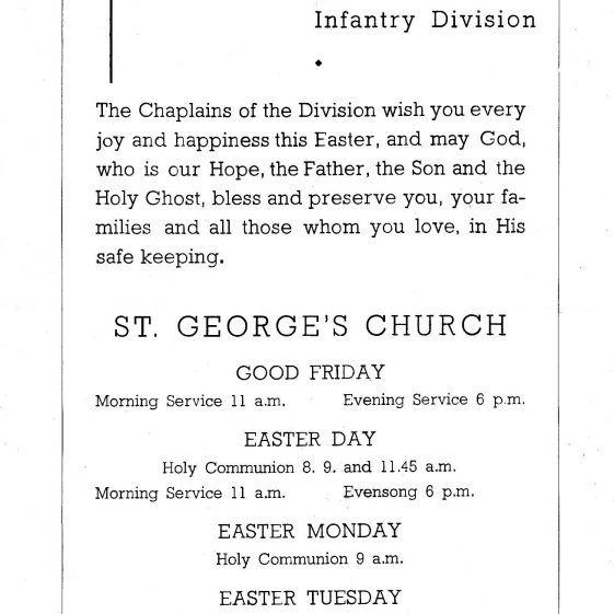 Easter 1945 services, St George's Church, 49th (West Riding) Infantry Division | Vol.1 - page 41