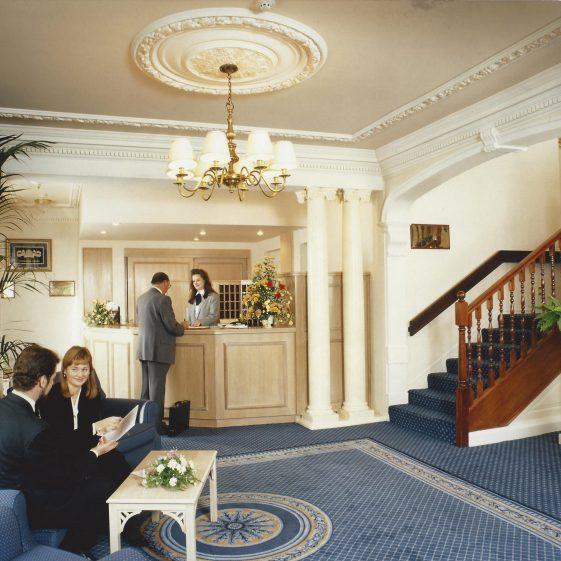 29. Corus/Harpenden House Hotel - reception, 1995   LHS archives - Welcombe-HHH album
