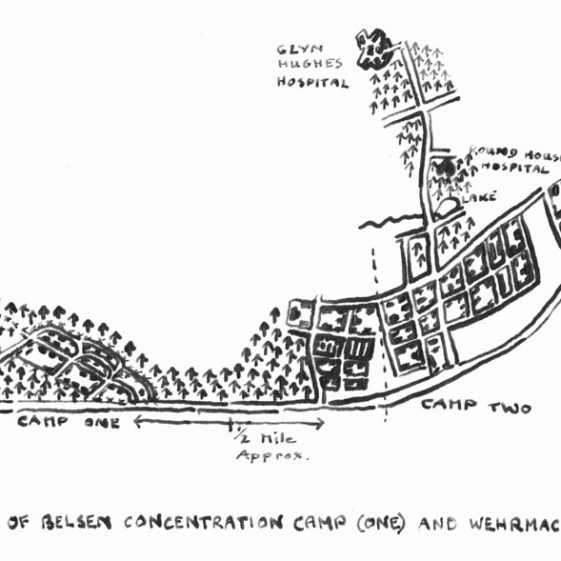 Tracing of Sketch Map of Belsen concentration Camp (One) and Wehrmacht Barracks | Vol.1 - page 151