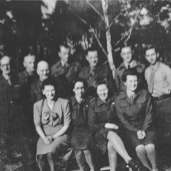 Polish officers with members of Section 102, autumn 1945 | Vol.2