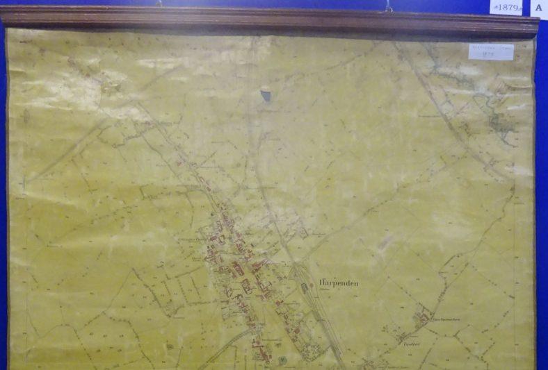 1879 rolled map - north Harpenden