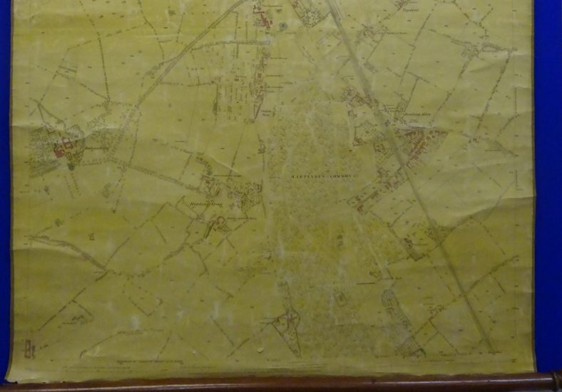1879 rolled map - south Harpenden