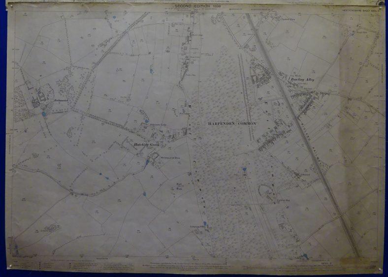1898 OS map - south Harpenden