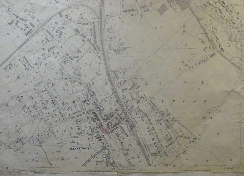 1924 OS map - north Harpenden