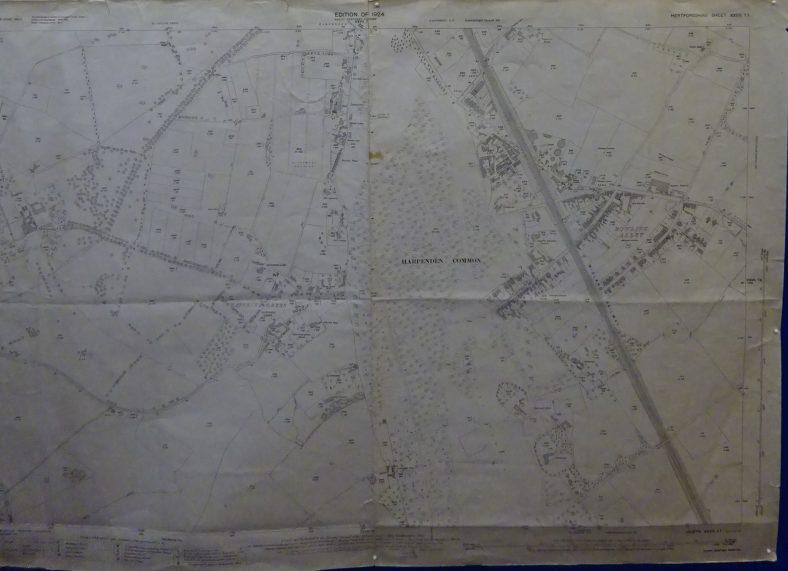 1924 OS map - south Harpenden