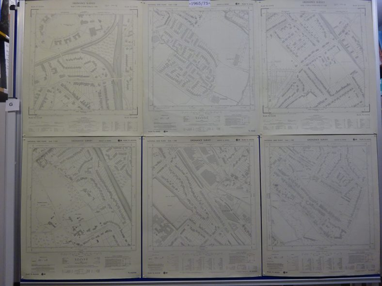 Samples of the large-scale series of segments of Harpenden, dated between 1965 and 1975 as they were regularly revised.
