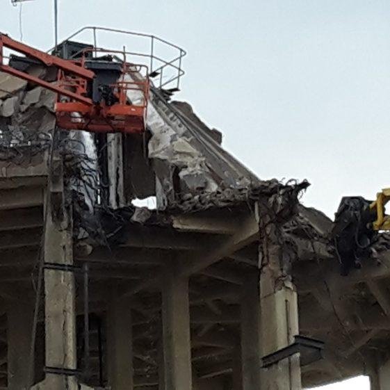 The two demolition machines - 3 February | Trevor Miller