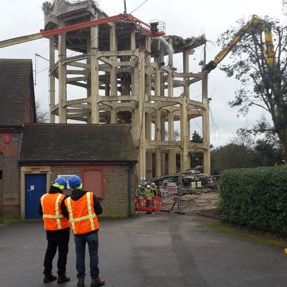 4 February, staff checking progress | Trevor Miller