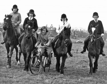 This photo was taken and published by the Herts Advertiser on 19th March 1963 as we rode up the Common, Walkers Road behind us. | Herts Advertiser