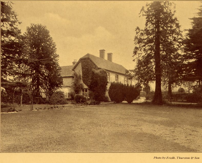 Limbrick Hall in 1929, from the Auction brochure   LHS archives, BF 10.4, photograph by Frederick Thurston & Son