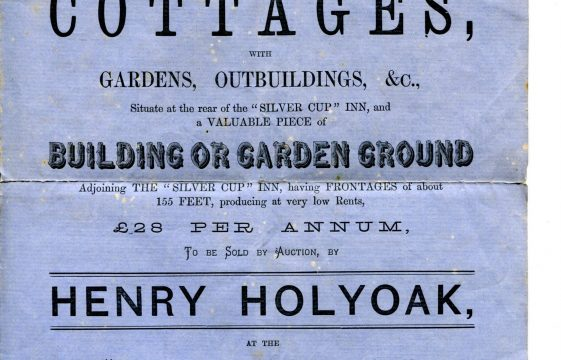 Auction of cottages on Leyton Road, behind the Silver Cup