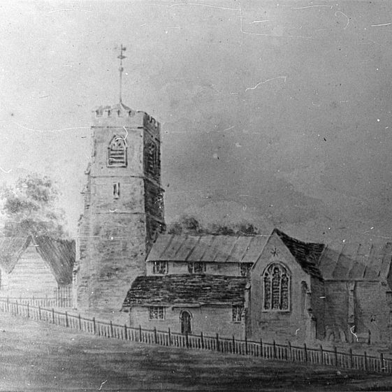 St Nicholas Church before rebuilding (1862) | Cat no Slides B 1.27