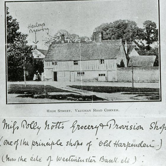 Polly Nott's house - site of NatWest Bank - 1895 | Cat no HC 033